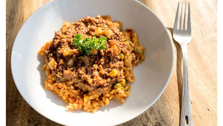 MEAL OPTION 2 :: Savoury Mince and Savoury Rice